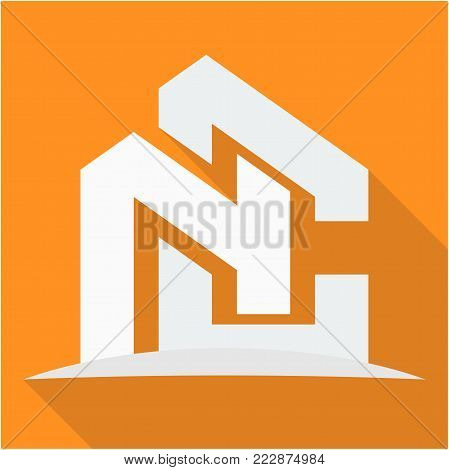 icon logo for the construction business, with combination of the initials N & C
