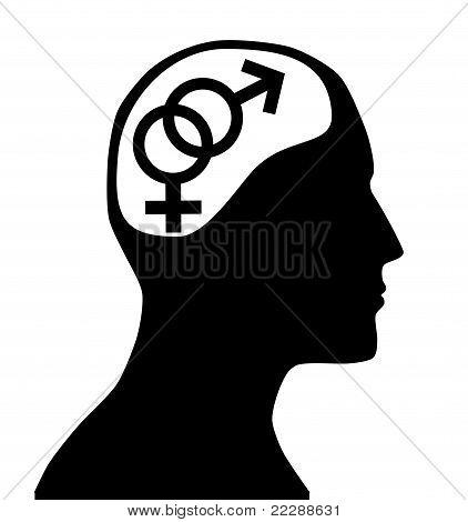 Male Female Gender Sign In Mind
