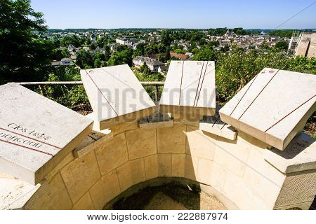 AMBOISE, FRANCE - JULY 8, 2010: viewpoint on garden villa in in Amboise town. Amboise is commune in the Indre-et-Loire department on the banks of the Loire River