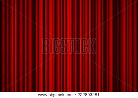 Abstract red background suitable as a cover background curtain or veil