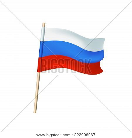 Flag Of Russia (white, Blue, Red Stripes)