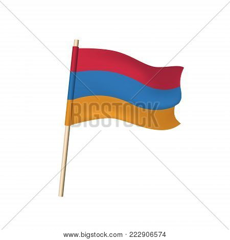 Armenia Flag Tricolor. Vector Illustration