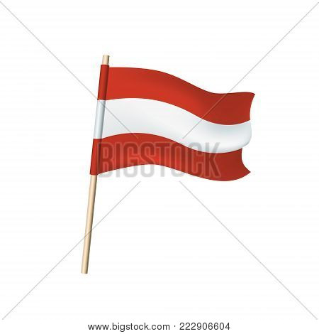 Austria Flag (red And White Stripes)