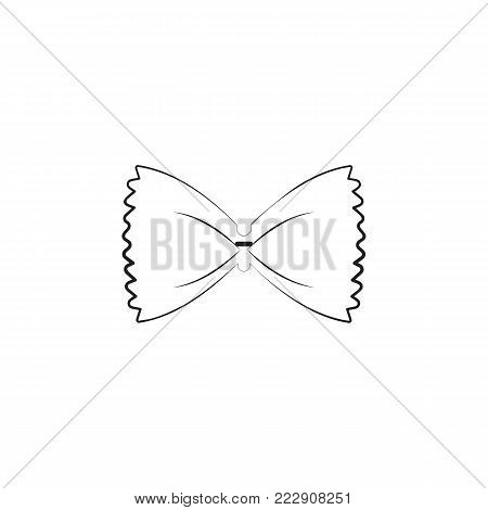 macaroni butterfly icon. Spaghetti element icon. Premium quality graphic design icon. Baby Signs, outline symbols collection icon for websites, web design, mobile app on white background