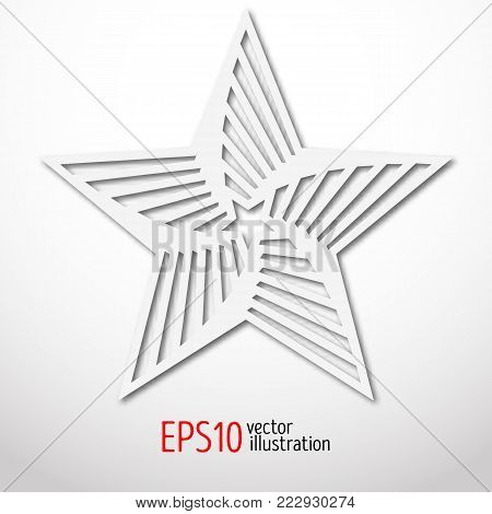 star paper 3d design. Sacral geometry Mystery shape.Abstract art design