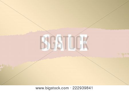 Set of New Collection fashion headers. Gold and Pastel blush. Elegant with hand drawn brush texture in pastel. Great for advertising, social media, web, blog, flyer, poster, brochure, invitation, cover
