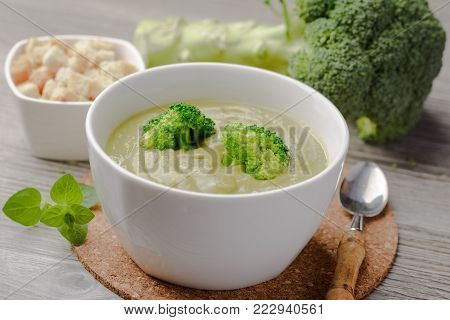 Vegetarian Broccoli Cream Soup,green broccoli cream soup