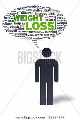 Paper Man With Iweight Loss Bubble