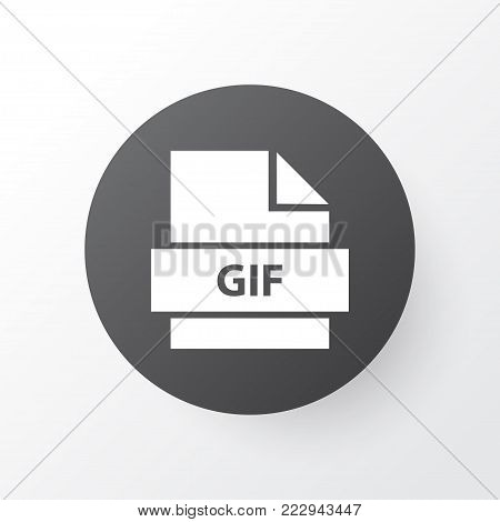 File icon symbol. Premium quality isolated gif element in trendy style.