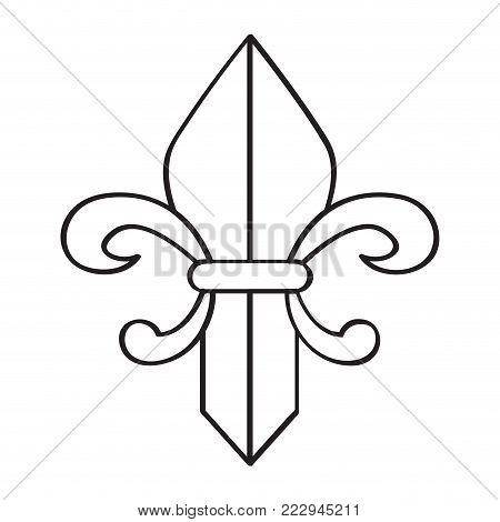Fleur de lys icon vector illustration design