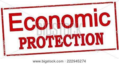 Rubber stamp with text economic protection inside, vector illustration