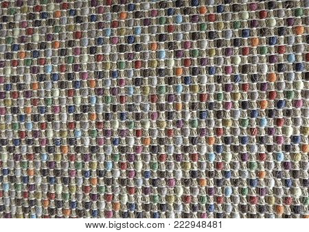 Background Pattern, Various Colors of Handicraft Weave Texture Wicker Surface for Furniture Material. Vintage Tones.