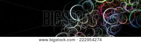 Fantastic Elegant Circle Panorama Background Design Illustration