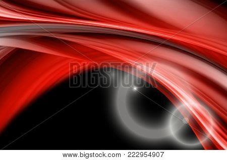 Powerful background design illustration with light on black