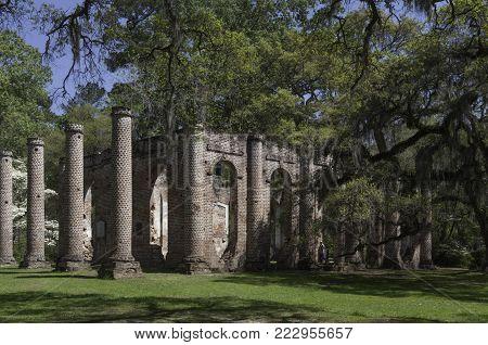 Old Sheldon Church Ruins in Beaufort County, South Carolina