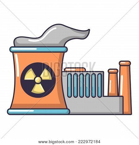 Atomic reactor icon. Cartoon illustration of atomic reactor vector icon for web.