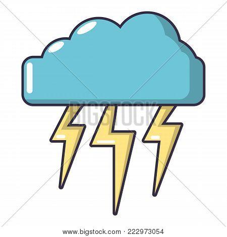 Atmospheric electricity icon. Cartoon illustration of atmospheric electricity vector icon for web.