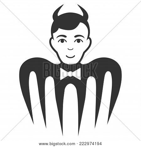 Manager Spectre Devil flat vector icon. An isolated icon on a white background.