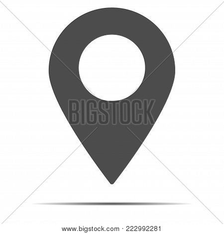 location pin icon. simple outline location pin vector icon. on white background.