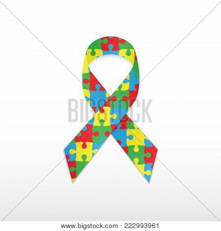 World autism awareness day. Vector illustration icon.