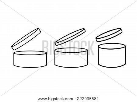 PAO template icons set. Expiry date symbols illustration