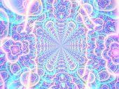 Shine Concentric Astral Shine Background   - Fractal Art poster