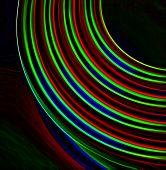 Circular colored lid abstract poster