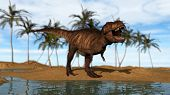 tyrannosaurus running poster