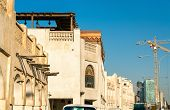 Buildings at Souq Waqif in Doha, the capital of Qatar poster