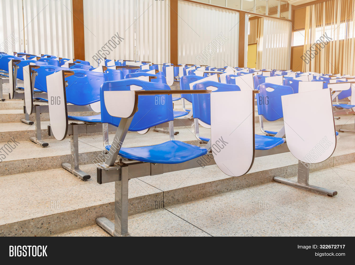 Row Lecture Chair Image Photo Free Trial Bigstock