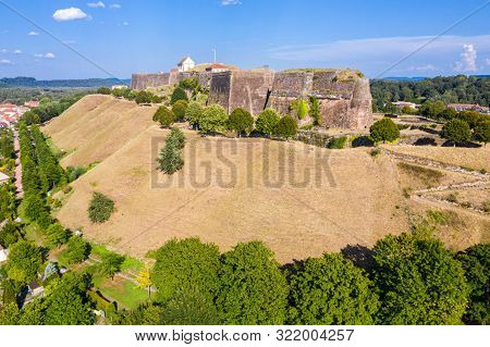 Star Shaped Bastions And Outworks Of Citadelle De Bitche, Medieval Fortress And Stronghold Near Germ