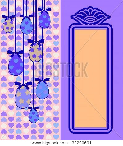 Eggs with lace ornaments on background vector