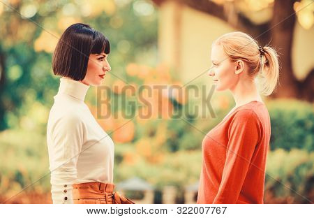 Female Rivalry. Friendship Problems Rivalry And Jealousy. Rivalry And Leadership. Women Looking At E