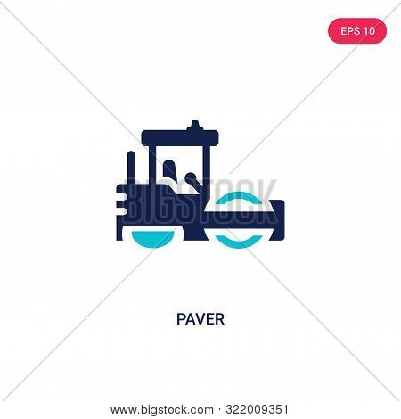 paver icon in two color design style.