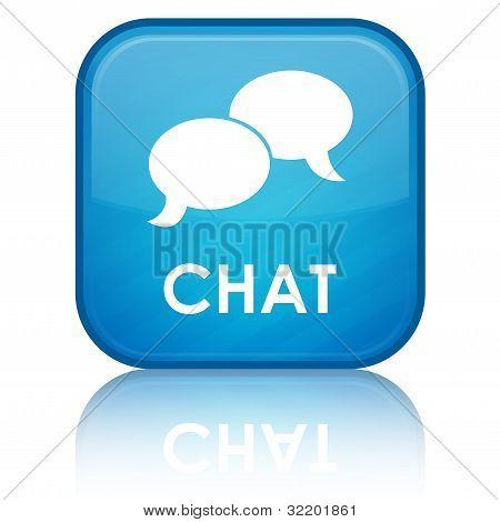 Chat blue button