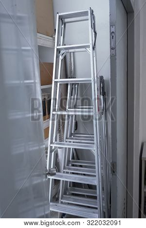 Steel Stairs For The Technician To Use
