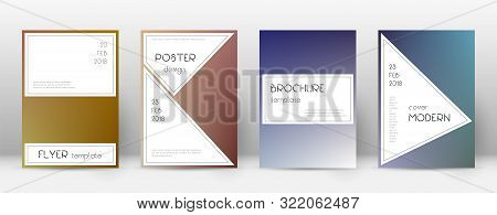Flyer Layout. Stylish Uncommon Template For Brochure, Annual Report, Magazine, Poster, Corporate Pre