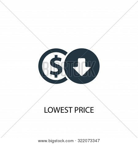 Lowest Price Icon. Simple Element Illustration. Lowest Price Concept Symbol Design. Can Be Used For