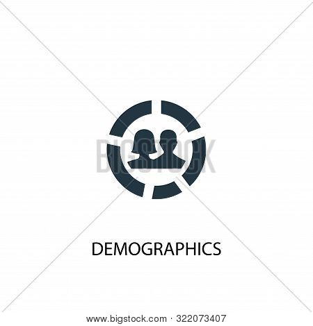 Demographics Icon. Simple Element Illustration. Demographics Concept Symbol Design. Can Be Used For
