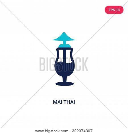 mai thai icon in two color design style.