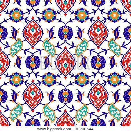 Traditional Islamic Flower Pattern