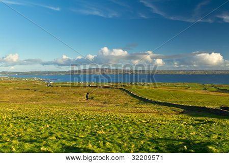 Irish scenery of Burren in Co. Clare