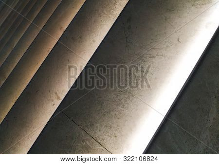 Illuminated Steps Stairs Abstract Closeup Background Image