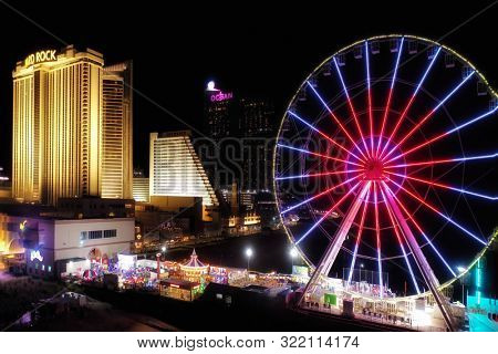 Atlantic City, N.J/USA/Sept. 5, 2019: The Steel Pier in Atlantic City N.J will only be open on weekends for the fall schedule.
