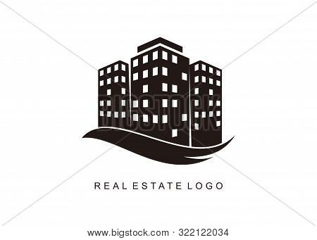 Modern Graphic Style Building Logo, Illustration Concept Of Real Estate Logo, Apartment House, Abstr