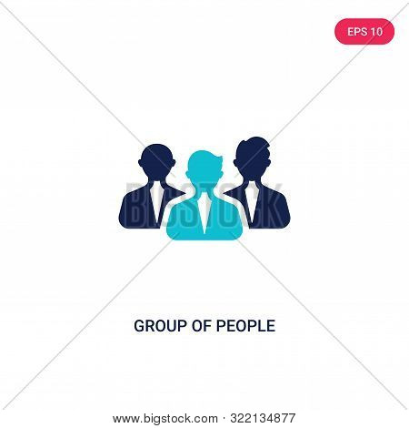 group of people icon in two color design style.