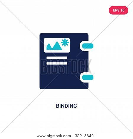 binding icon in two color design style.