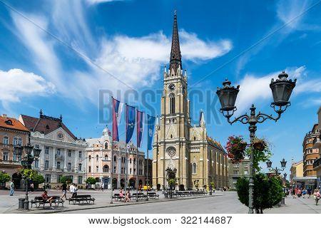 Novi Sad, Serbia - July 7, Novi Sad - Liberty Square On The Day Of Exit Festival. Novi Sad Is The Se