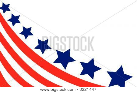 American flag background fully editable vector illustration poster
