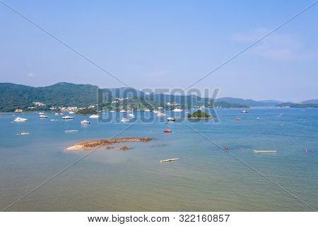 Aerial View Of Sai Kung Island , Hong Kong